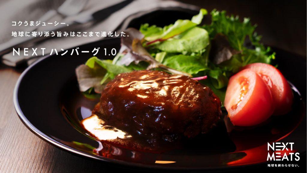 100%植物性の代替肉ハンバーグ「NEXTハンバーグ(ネクストハンバーグ)1.0」